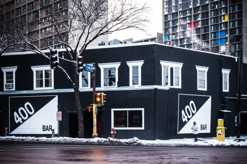 Across the street view of the old 400 Bar location // photo by Nate Ryan/MPR