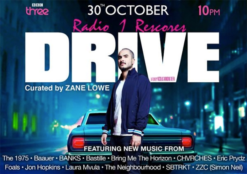 Artwork for Zane Lowe's musical interpretation of Drive // via BBC