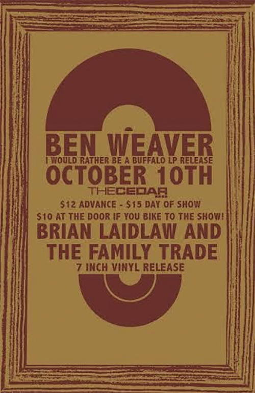 Poster for the launch party // via hymiesrecords.com