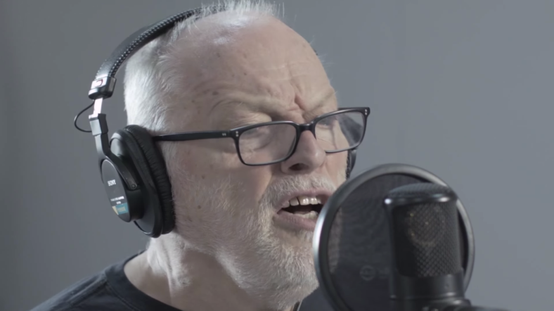 David Gilmour singing in studio, taken from a recent press kit released in regards to their new album // via Youtube