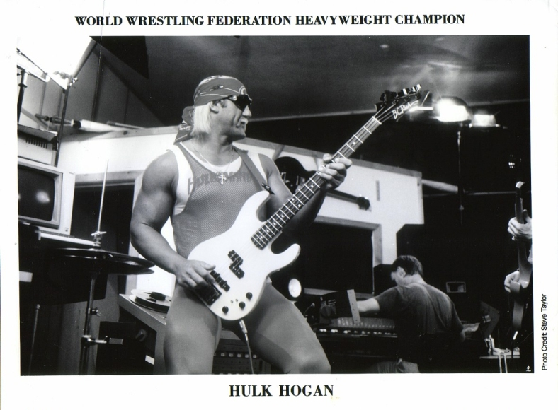 Hulk Hogan during the height of his wrestling career, and subsequent attempts at becoming a full-time rock-n-roller // via imageevent.com