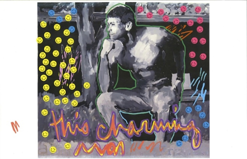 "James Franco's painted artwork for the ""This Charming Man"" video // via Pitchfork"