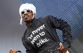 One of the many jumpsuits worn by Andre 3000 while touring // via FACT mag