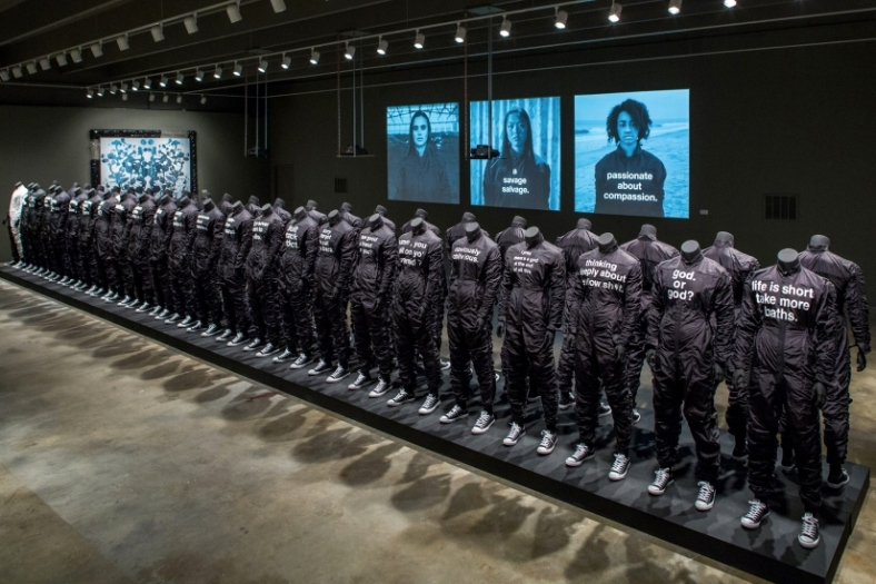 A total accounting of all the jumpsuits on display at the i feel ya exhibit // via scad.edu