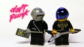 One of the rendered Daft Punk LEGO builds from user Autorazr.