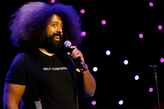 Reggie Watts has the ability to be a one-man band, but will he choose to be? // photo by Alex Rauch